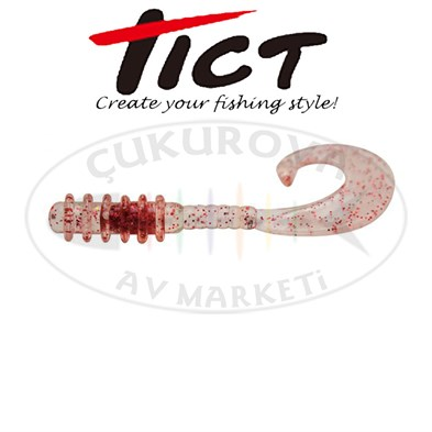TICT SPIRAL CLAW RENK #TRANSP.RED GLITTTER